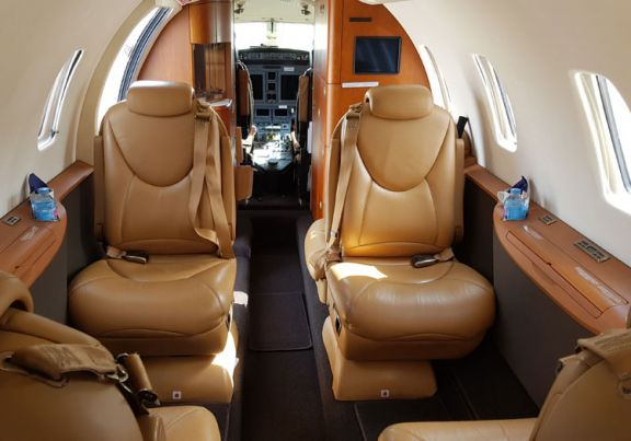 Interior of D-CEHM Cessna Citation XLS+