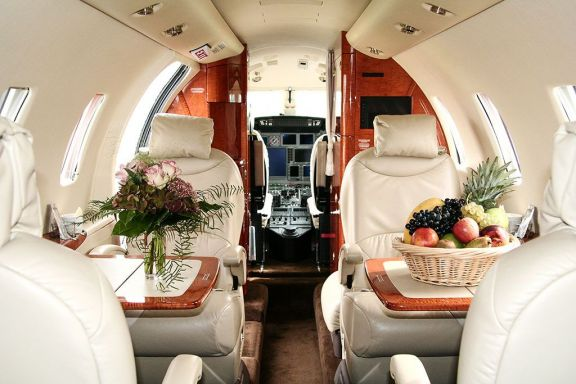 Interior of D-CRON Cessna Citation XLS
