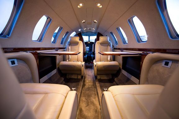 Interior of D-CSCA Cessna Citation Jet CJ3