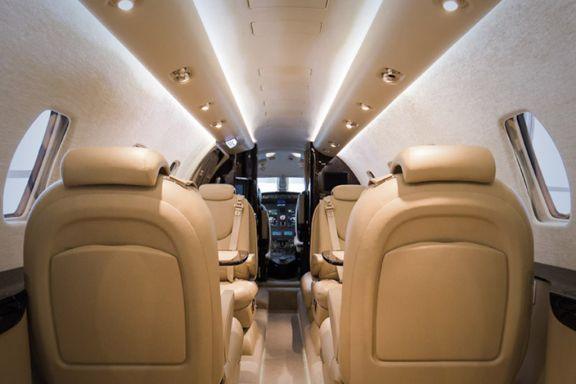 Interior of D-CSCB Cessna Citation XLS+