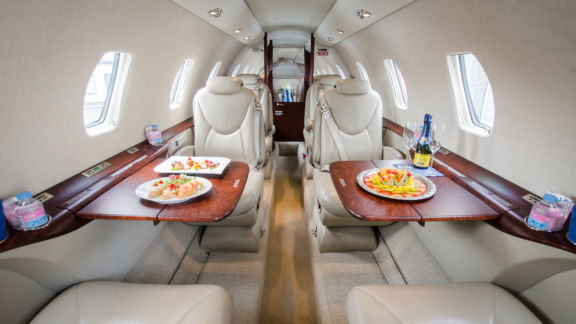 Interior of D-CSMC Cessna Citation XLS+