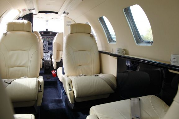 Interior of D-IHEB Cessna Citation Jet CJ1